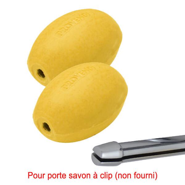 Savon jaune rotatif citron Provendi (lot de 2)